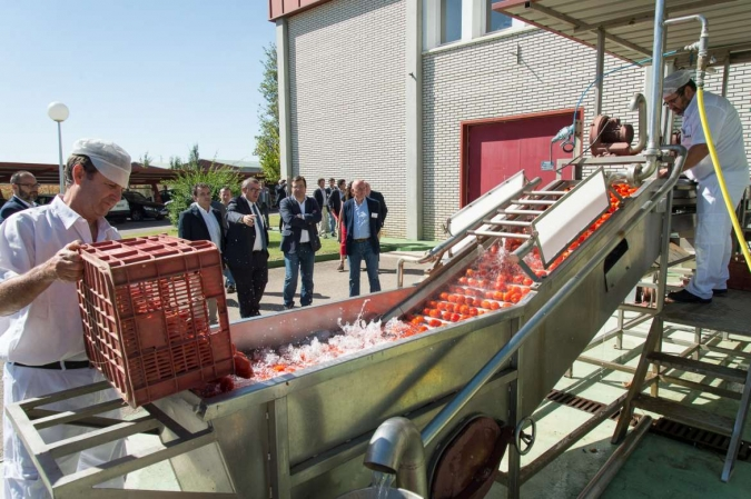 Visita a CTAEX del presidente de la Junta de Extremadura, Guillermo Fernández Vara