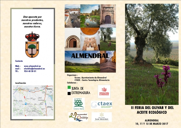 CTAEX colabora en las II Jornadas del Olivar y del Aceite Ecológico de Almendral