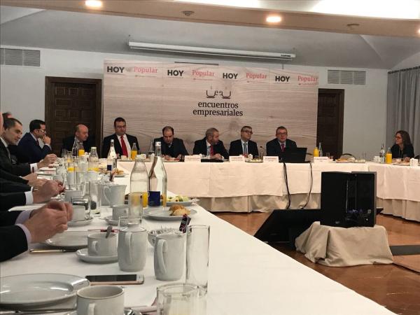 El director de CTAEX interviene en los Encuentros Empresariales del diario HOY