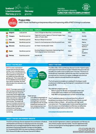 eNEET Rural: Facilitando el emprendimiento y mejorando las habilidades de los NEETs que viven en áreas rurales