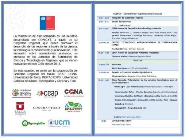 Seminario Regional de Ciencia y Tecnología sobre Agroindustria Avanzada en Santiago de Chile
