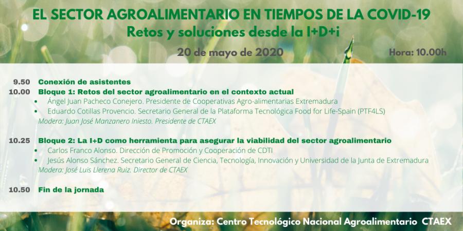 CTAEX analiza e impulsa el sector agroalimentario en tiempos de la COVID-19