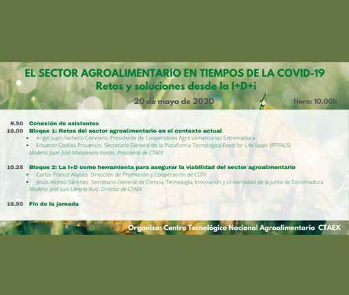 Webinar: El sector agroalimentario en tiempos de la COVID-19