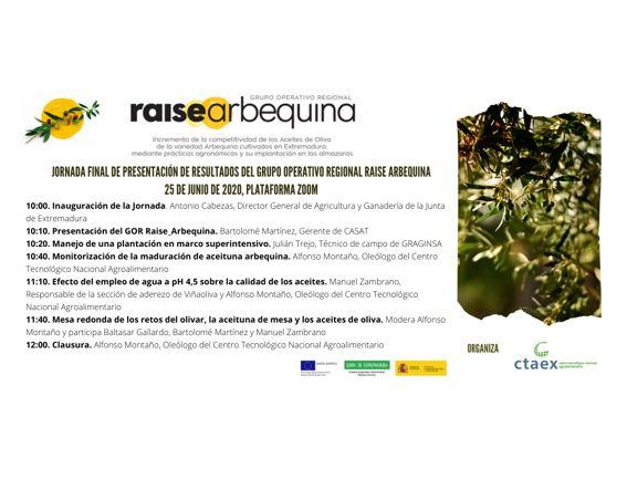 Jornada Final de presentación de resultados del GO Raise_Arbequina