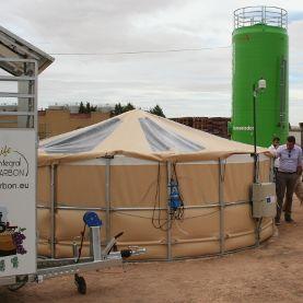 Prototipo industrial de cultivo de algas