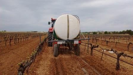 aplicación biomejorador en viña