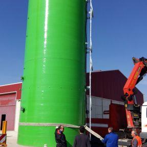 Desmontaje y traslado módulo producción biogás 6
