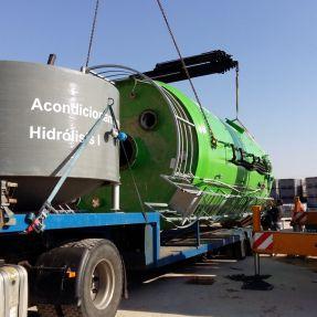 Desmontaje y traslado módulo producción biogás 7