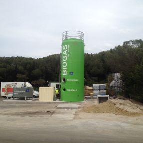 Montaje del módulo de producción de biogás en Burgos 5