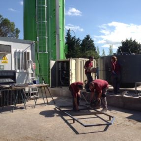 Montaje del módulo de producción de biogás en Burgos 7
