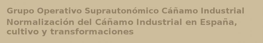 Grupo Operativo Suprautonómico - Cáñamo Industrial